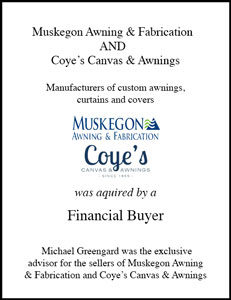 Muskegon Awning & Fabrication  AND  Coye's Canvas & Awnings
