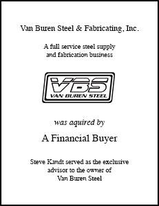 Van Buren Steel Fabricating Inc.